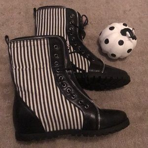 Striped Halloween Boots